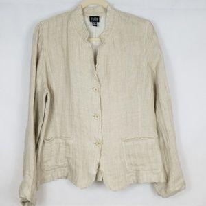 Eileen Fisher Linen Jacket Size L